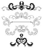 украшение выходит страницы стилизованный Стоковое Фото