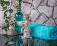 Украшение в интерьере ванной комнаты Стоковое фото RF