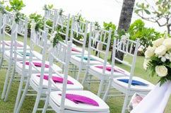 Украшение в торжестве свадьбы Стоковая Фотография