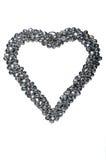 Украшение в форме сердца изолированного на белизне Сделанный silv Стоковое Изображение RF