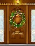 Украшение для счастливого Нового Года и с Рождеством Христовым приветствия иллюстрация вектора