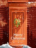 Украшение для счастливого Нового Года и с Рождеством Христовым приветствия бесплатная иллюстрация