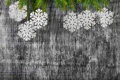 Украшение ели Нового Года и рождества праздника Стоковые Изображения RF
