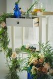 Украшение зал свадьбы Стоковые Изображения RF