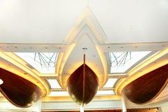 Украшение зоны лобби в роскошной гостинице Стоковое фото RF
