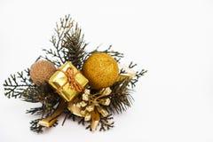 Украшение золота рождества стоковые изображения