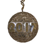 Украшение 2017 золота Стоковое Изображение RF