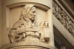 Украшение здания Nouveau искусства в Праге, чехии Стоковые Фото