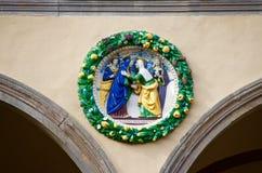 Украшение искусства Пистойя Тосканы керамическое стоковые изображения rf