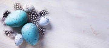 Украшение искусства праздничное с пасхальными яйцами Стоковая Фотография RF