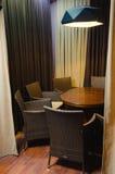 Украшение и мебель в кафе Стоковая Фотография