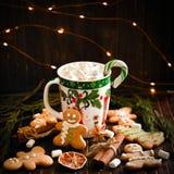 Украшение и предпосылка для Нового Года и рождества Стоковые Фотографии RF