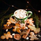 Украшение и предпосылка для Нового Года и рождества Стоковые Изображения RF