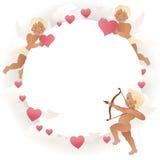 Украшение карточки дня ` s валентинки вектор Стоковое Изображение