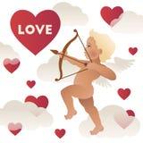 Украшение карточки дня ` s валентинки вектор Бесплатная Иллюстрация