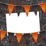 Украшение карточки хеллоуина бесплатная иллюстрация