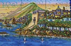Украшение керамической плитки типичное стен села a Стоковое Изображение