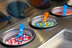 Украшение кондитерскаи для сладостного десерта мороженого в металле Стоковая Фотография RF