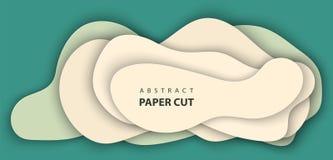 украшение конспекта 3D реалистическое бумажное, дизайн текстурированное с картоном волнистым, шаблоном дизайна плана, знаменем, б иллюстрация вектора