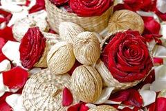 Украшение красных роз флористическое Стоковая Фотография RF