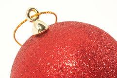 украшение крупного плана рождества шарика Стоковое Изображение