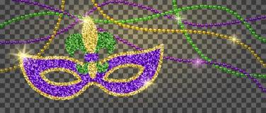 Украшение марди Гра иллюстрация вектора