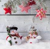 Украшение натюрморта рождества с деревянным стоковые фото