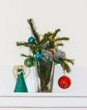 Украшение на рождественской елке счастливое newyear изображение энергии принципиальной схемы предпосылки Стоковая Фотография RF