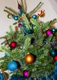 Украшение на рождественской елке счастливое newyear изображение энергии принципиальной схемы предпосылки Стоковое Изображение