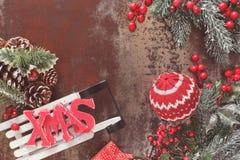 Украшение Нового Года и рождества с скелетоном Стоковое Изображение RF