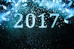 Украшение Нового Года, крупный план на золотых предпосылках Стоковые Фото
