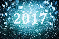 Украшение Нового Года, крупный план на золотых предпосылках Стоковое Изображение
