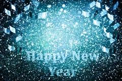 Украшение Нового Года, крупный план на золотых предпосылках Стоковые Фотографии RF