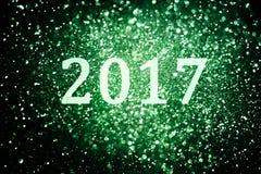 Украшение Нового Года, крупный план на золотых предпосылках Стоковое фото RF