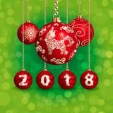 украшение 2018 Новых Годов и рождества Стоковая Фотография RF