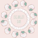Украшение дня Escargot Стоковые Фото