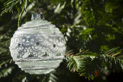 Украшение орнамента белого рождества стоковые изображения