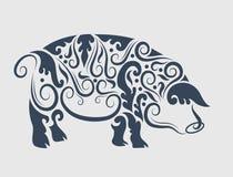 Украшение орнамента свиньи Стоковая Фотография