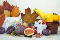Украшение осени в кухне Стоковое Изображение RF
