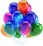 Украшение партии воздушных шаров с днем рождения цветастое Стоковые Изображения