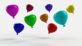 Украшение партии воздушных шаров с днем рождения Стоковая Фотография RF