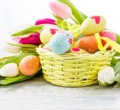 Украшение пасхального яйца Стоковые Фото