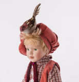 Украшение пасхи с игрушкой и птицей мальчика Стоковые Изображения