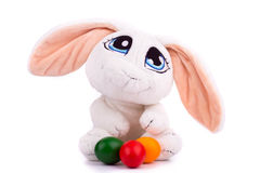 Украшение пасхи с кроликом Стоковая Фотография