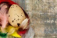 Украшение пасхи с яичком Стоковые Изображения RF