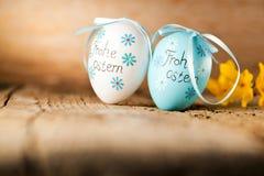 Украшение пасхи eggs милый зайчик пасха счастливая Винтажный стиль t стоковые фото