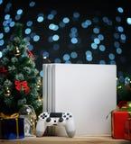 Украшение подарка рождества консоли игры Подарок рождества для Gamer стоковая фотография
