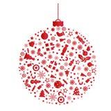 Украшение подарка шарика рождества стоковая фотография rf
