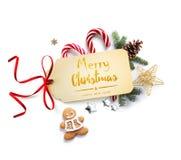 Украшение праздника рождества; Состав рождества с tre ели Стоковые Изображения RF