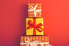 Украшение предпосылки рождества Дизайн Handmade Стоковые Изображения RF